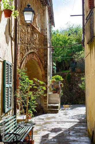 Fototapeta alley of the italian village, Scansano, tuscany