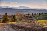 Spring countryside in Tatras mountains