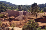 red landscape dug by six generations of miners ocher Colorado Pr