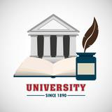 university emblem education icon vector illustration design