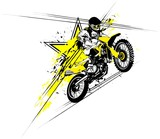 Fototapety Vector illustration of a rider on a motorcycle