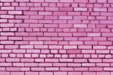 Fototapety Weathered pink brick wall texture.