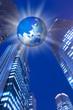地球儀とビジネスイメージ