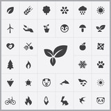 ecology icons universal set