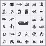 logistics icons universal set