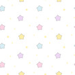 cute cartoon colorful stars seamless vector pattern background illustration