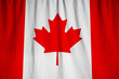 Closeup of Ruffled Canada Flag, Canada Flag Blowing in Wind