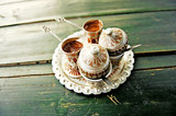 Fototapety Two coups of bosnian coffee