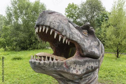 Plastic Mannequin carnivorous dinosaur Tyrannosaurus. Billede på lærred
