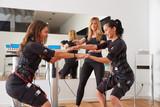 EMS electro stimulation women exercises - 121656178