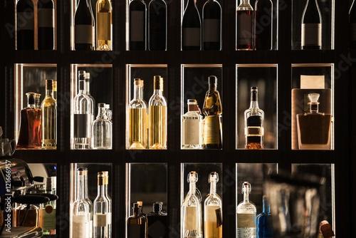 Alcohol Beverages Bar Shelf Poster