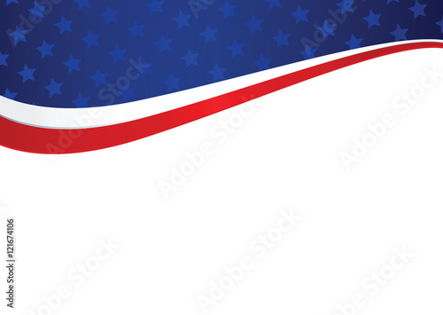 Patriotic american holiday abstract background