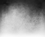 Fototapety black and white vector background with cloudy white center and gradient black grunge texture on top border, silver gray background with black corners