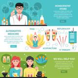 Alternative Medicine Horizontal Banners