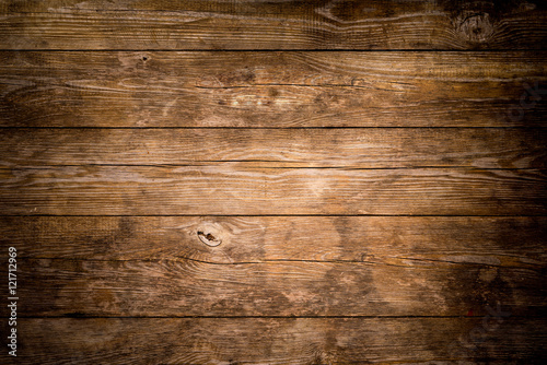 Leinwandbild Motiv Rustic wood planks background