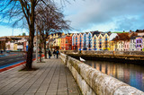 Bank of the river Lee in Cork, Ireland