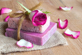 Fototapety Rose scented natural soaps