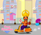 Ravana wishing Happy Dussehra offer