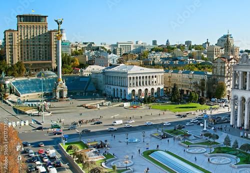 Poster Kiev Maidan Nezalezhnosti. Kiev , Ukraine