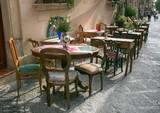 Outdoor Restaurant in the Sidewalk..