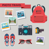 Flat design concept vector illustration photo travel - 121765340