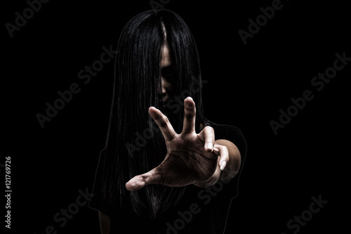 Halloween theme:Ghost Girl Horror isolated on black background Poster