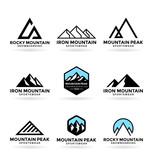Mountains. Logo desi...