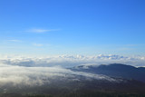Morning mist and moutain at doi inthanon Chiang mai Thailand
