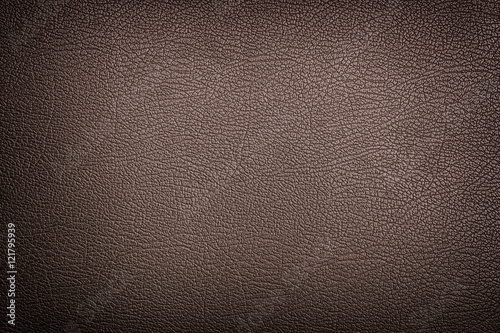 Brown leather texture background - 121795939