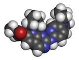 Ribociclib cancer drug molecule (CDK4/6 inhibitor).