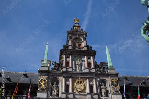 Fotobehang Antwerpen Grote Markt, Belgium, Anversa