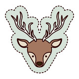 Reindeer icon. Merry Christmas season and decoration theme. Isolated design. Vector illustration