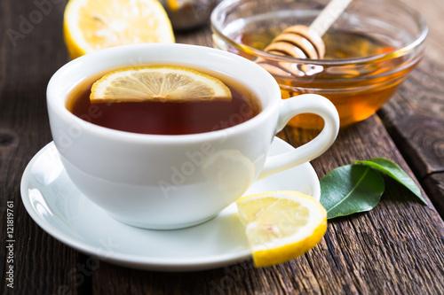 Papiers peints The Tea with honey and lemon