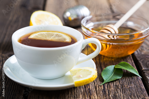 Poster Tea with honey and lemon