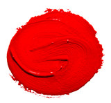 Fototapety Red strokes of the paint brush isolated