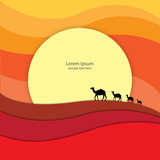 Desert celebrations greeting card graphic design