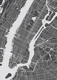 Vector detailed map New York - 121835180