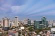 Bangkok skyscraper at sunet