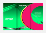 Tri-fold Brochure Design and Catalog Vector Concept Template