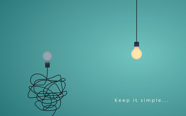 Keep it simple business concept for marketing, creativity, project management. © jozefmicic