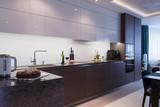 Interior of a high tech kitchen - 121872392