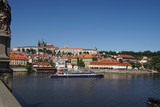 River cruise boat on the Vltava River