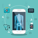 health app medical digital healthcare vector illustration eps 10