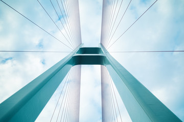 cable-stayed bridge closeup © chungking