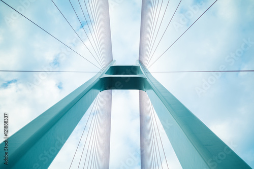 Poster cable-stayed bridge closeup