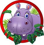Cartoon hippo mascot - 121892100