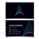 Business Card Template With A Logo,Vector Illustration