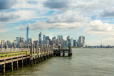 views to lower manhattan on sunny day - 121920124