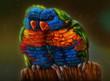 Постер, плакат: Пара попугаев