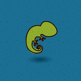 Chameleon icon. Animal pet cartoon and nature theme. Colorful design. Vector illustration